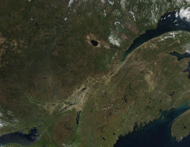 Satellite Image, Photo of Quebec