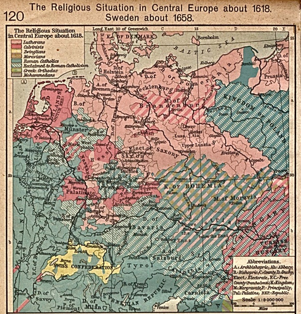 The Religious Situation in Central Europe circa 1618