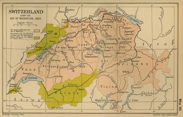 Suiza en virtud del Acta de Mediacion 1803