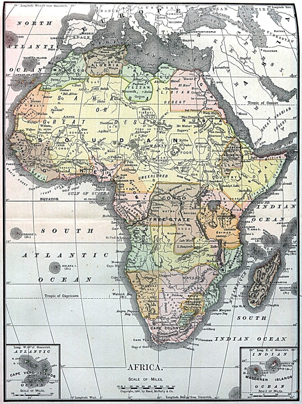 Africa Map 1890