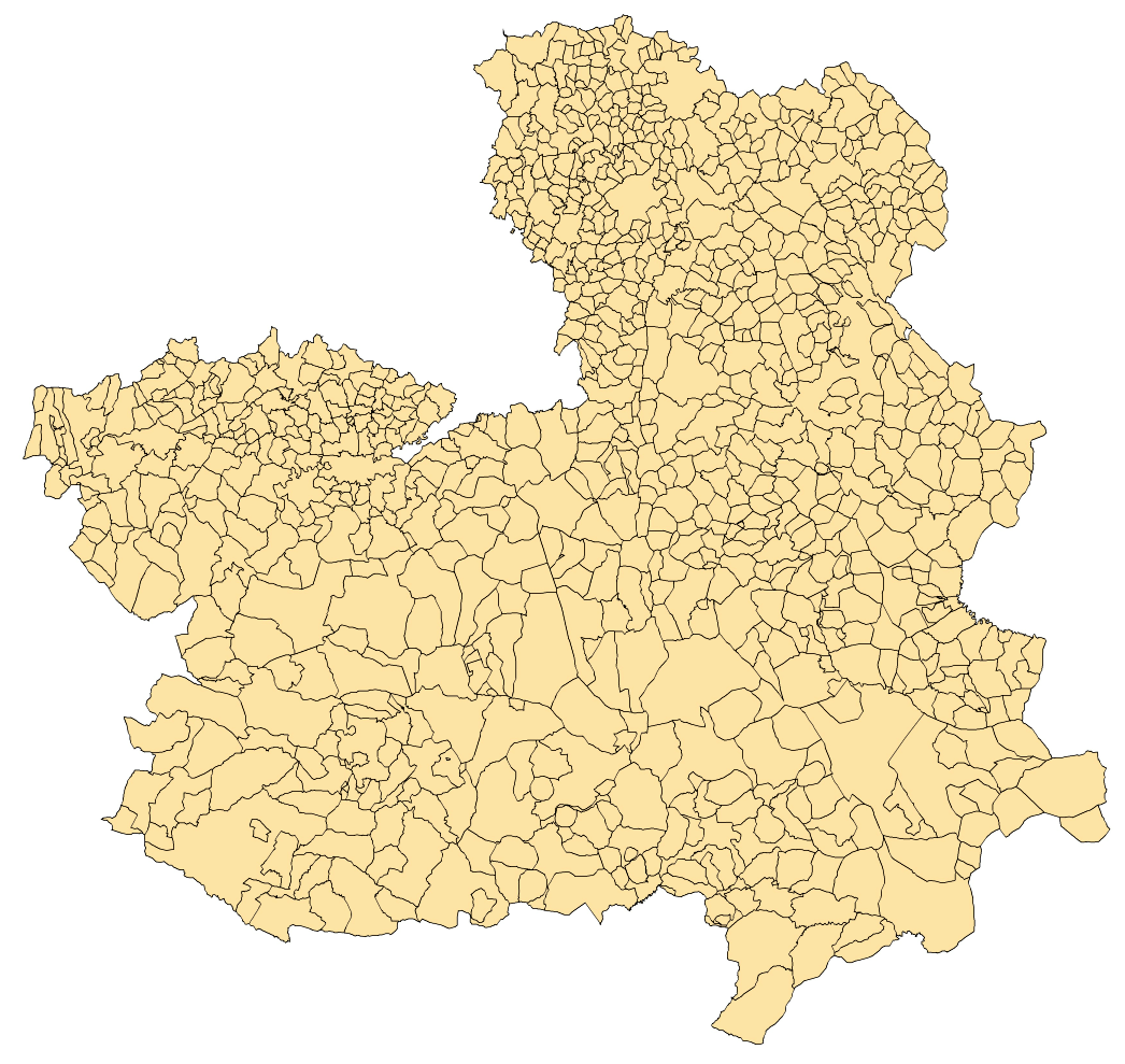 Municipalities of Castille-La Mancha 2003