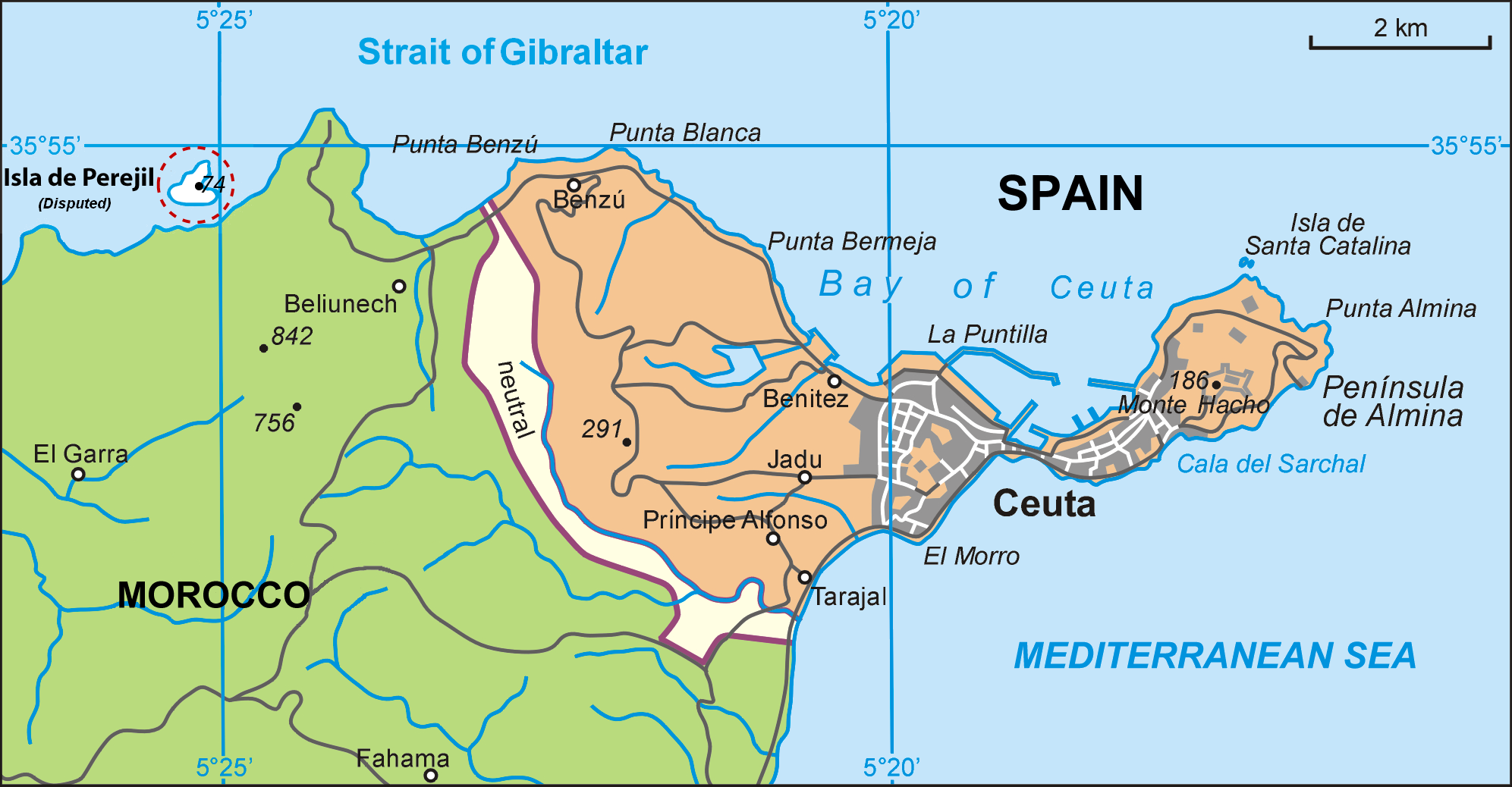 Map of Ceuta 2010