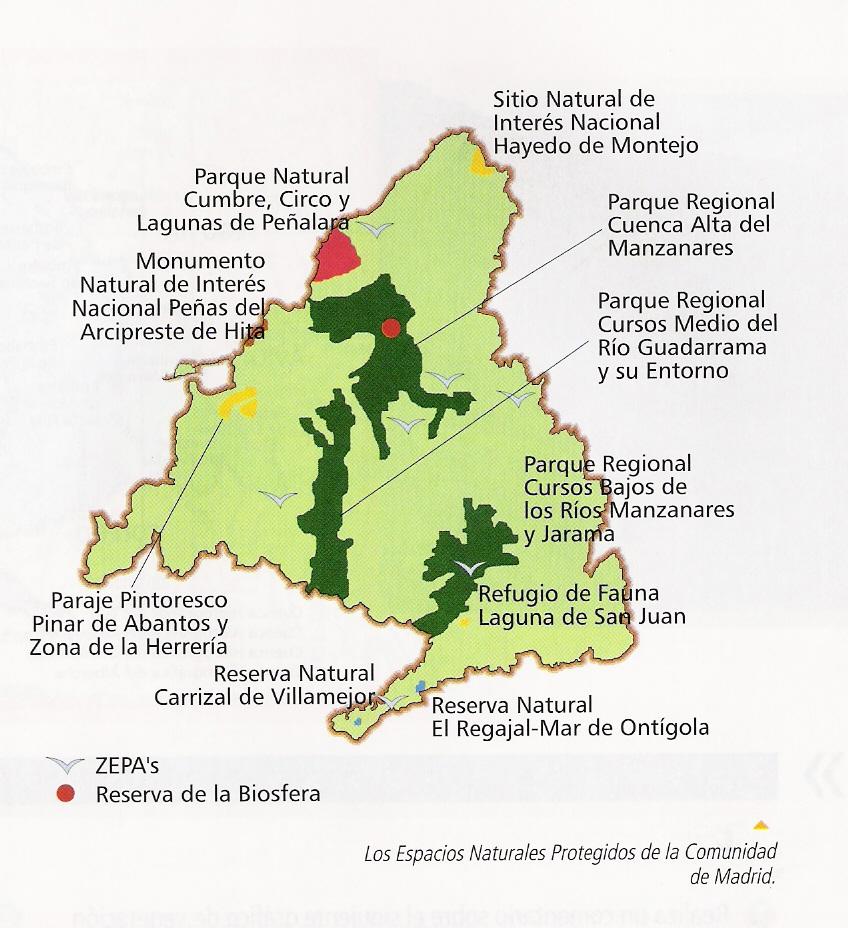 Espacios naturales Comunidad de Madrid