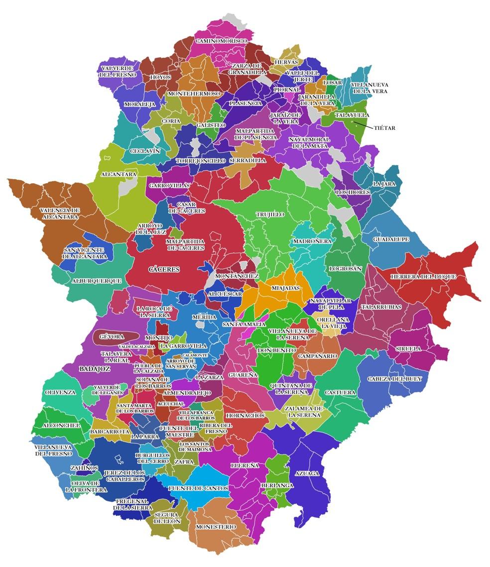 Zonas Educativas de Extremadura