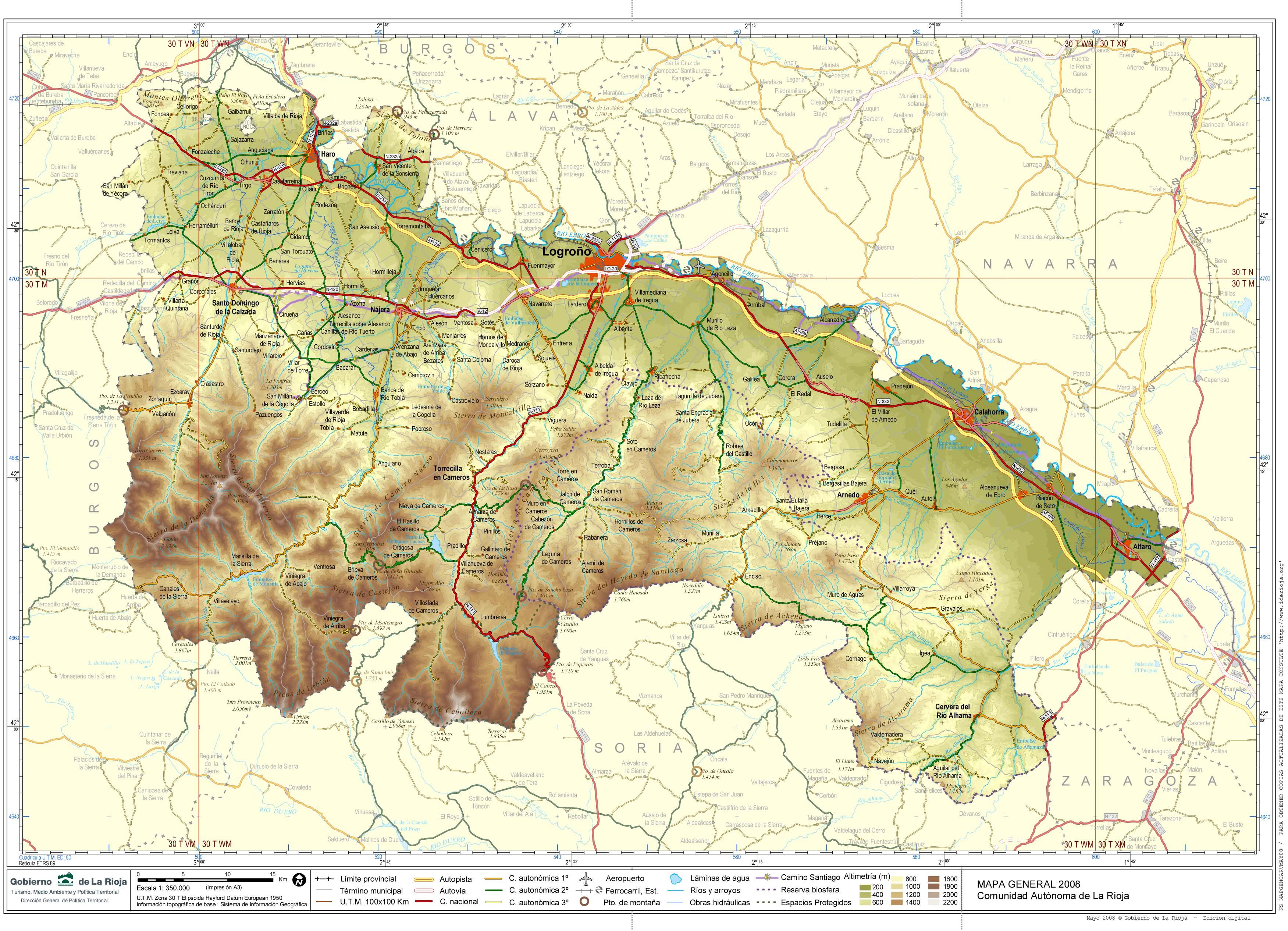 Mapa de La Rioja 2008