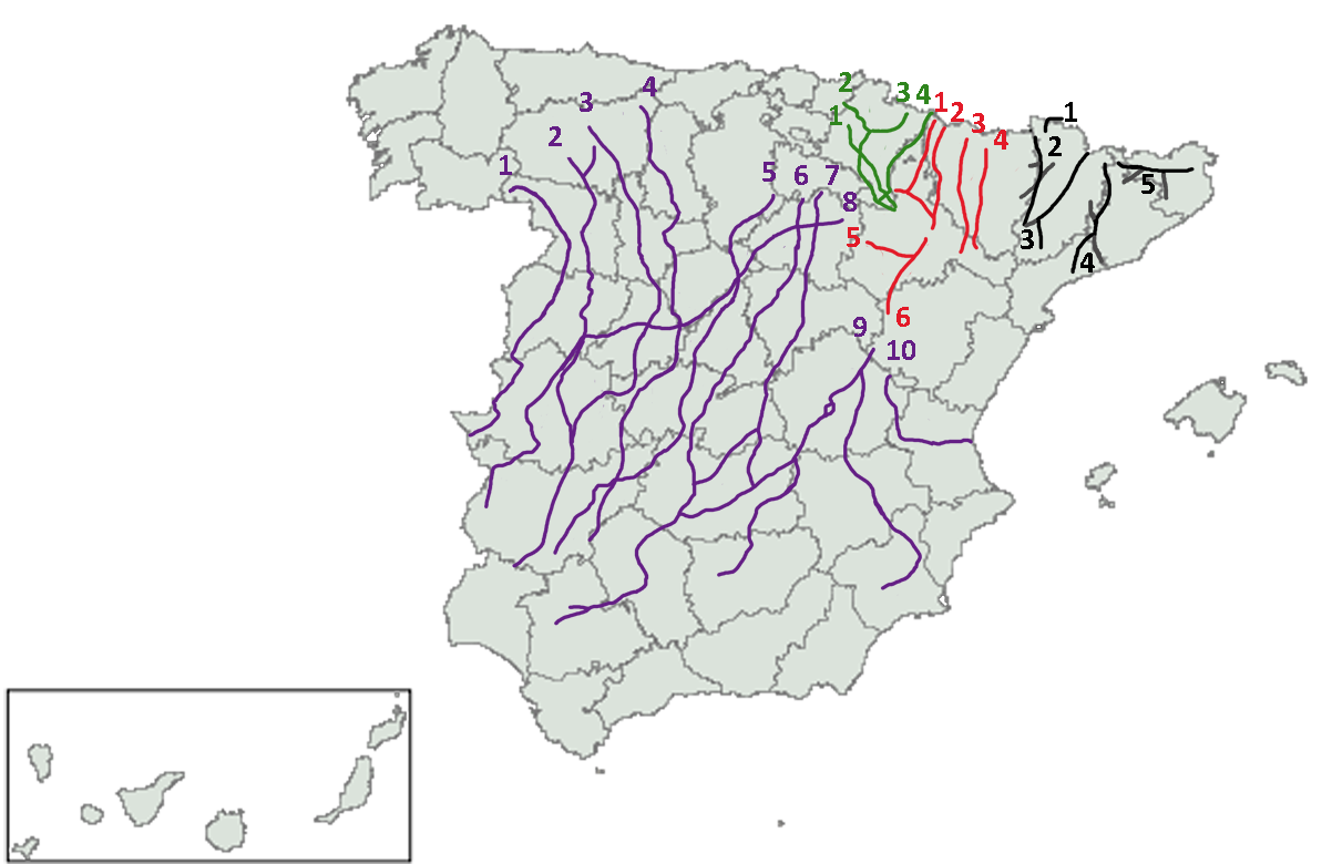 Spain's main cattle trails
