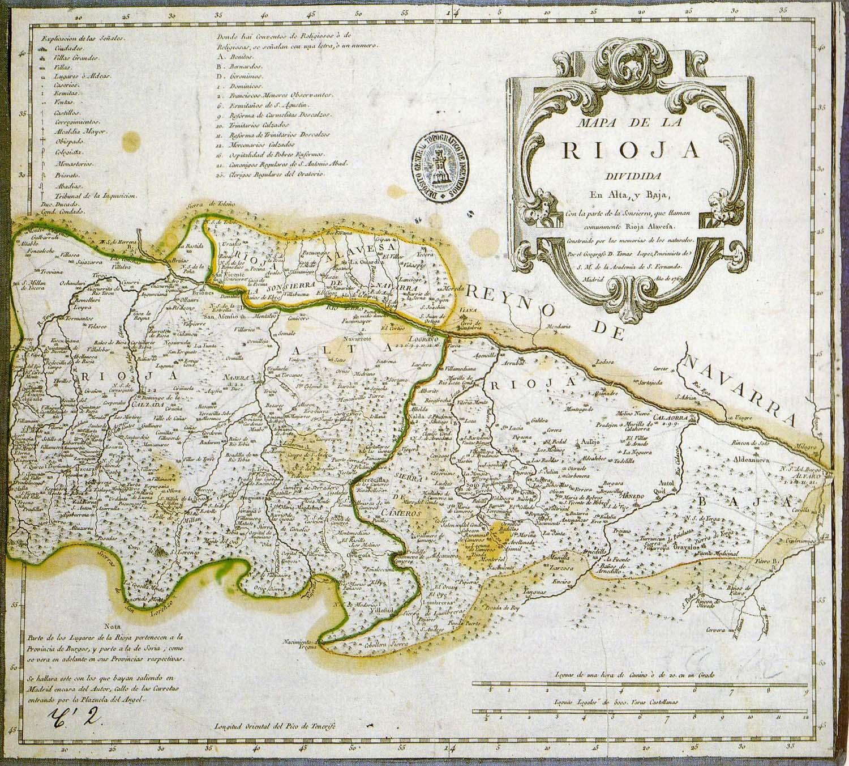 La Rioja Alta and Baja 1769