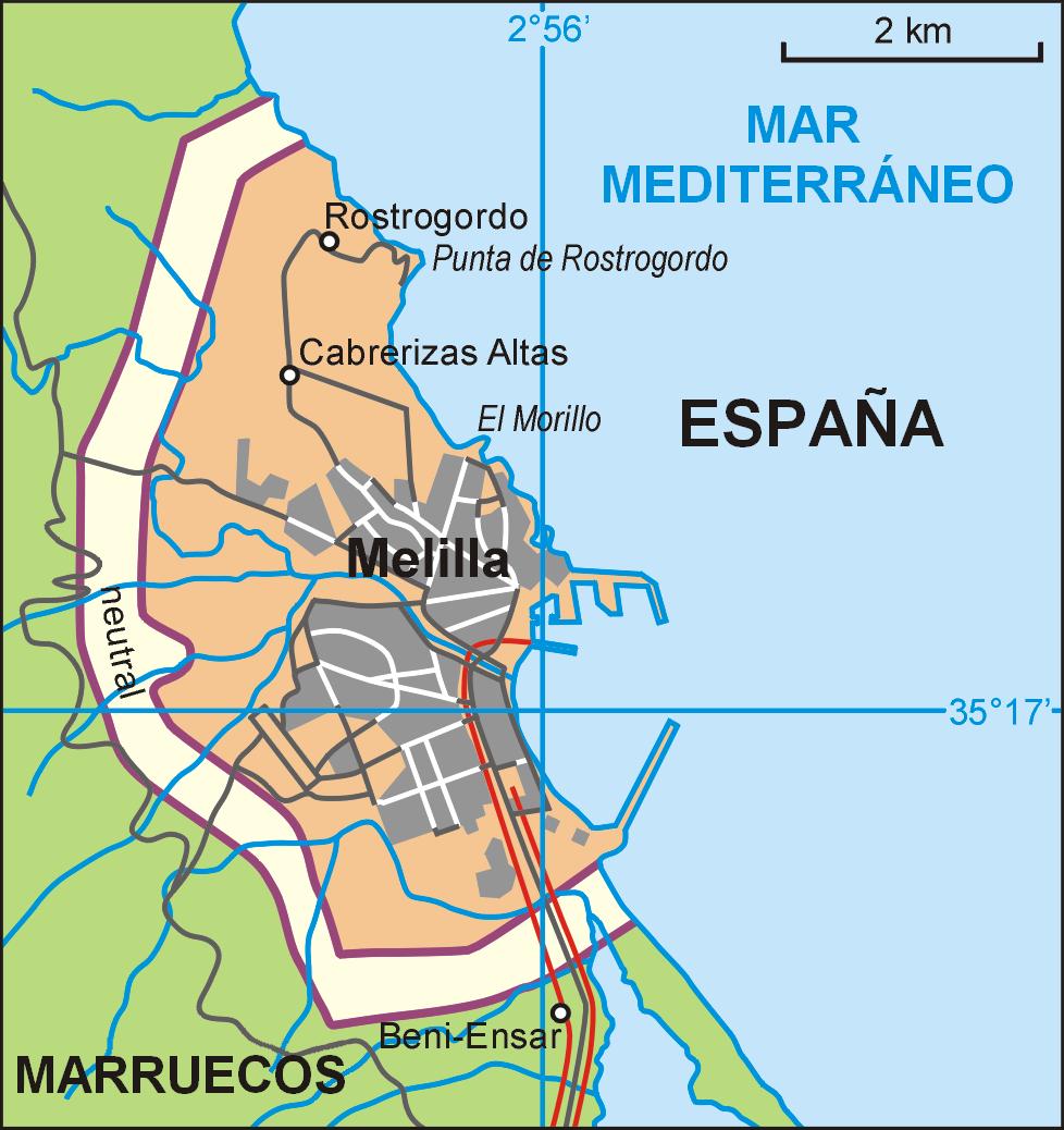 Melilla map 2006