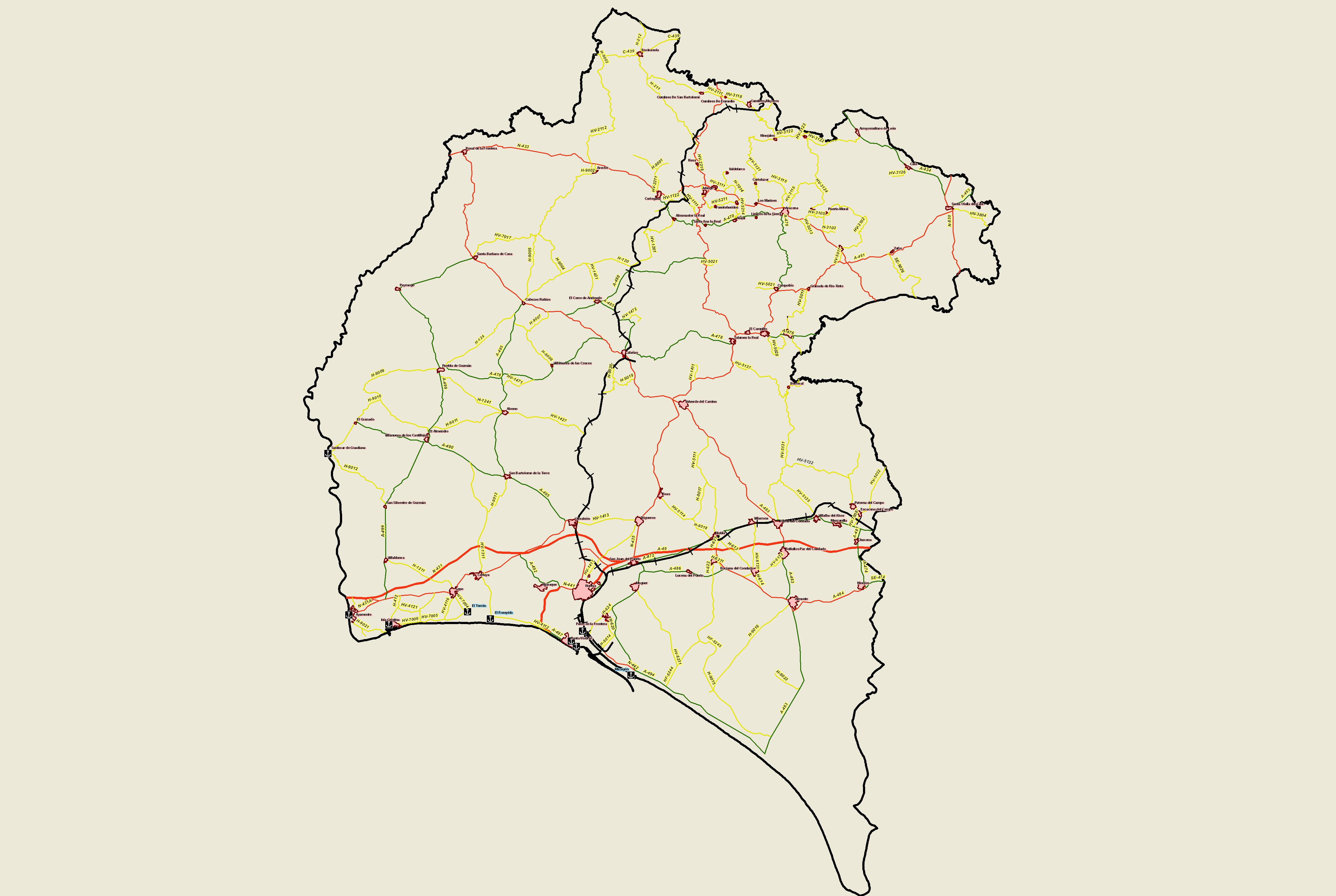 Transportes y comunicaciones en la provincia de Huelva 2008