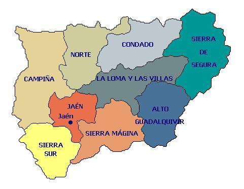 Comarcas de la provincia de Jaén 2006