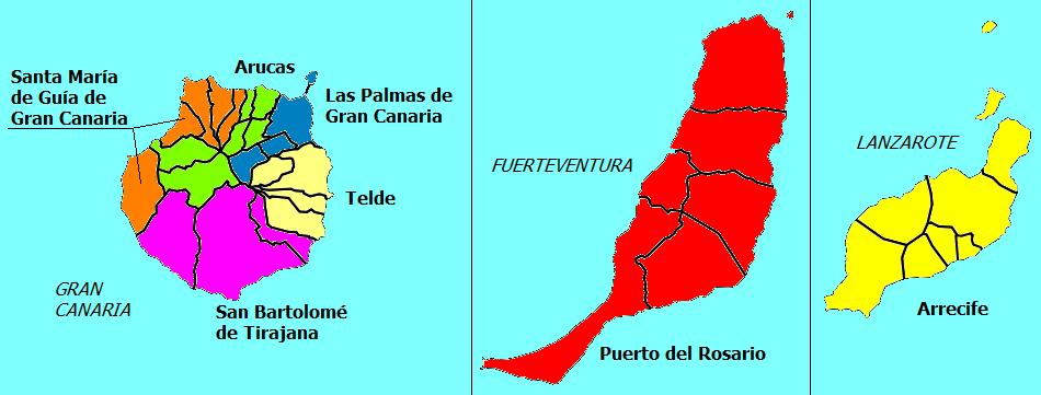 Partidos Judiciales de la Provincia de Las Palmas 2010
