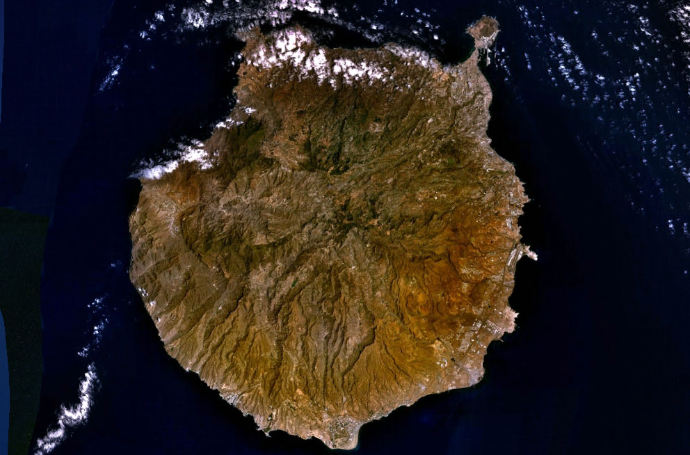 Gran Canaria Island satellite image