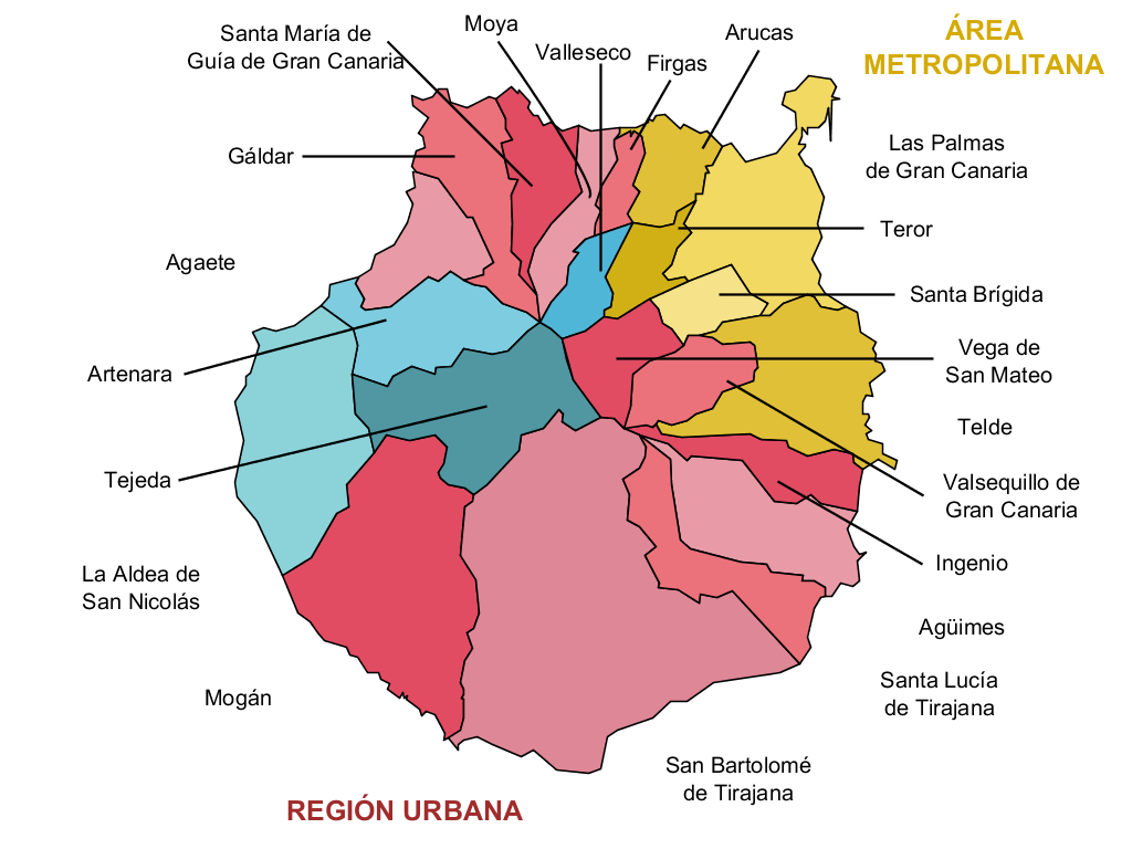 La Palma Mapa Municipios.Mapa Municipal De Gran Canaria 2007 Mapa Owje Com