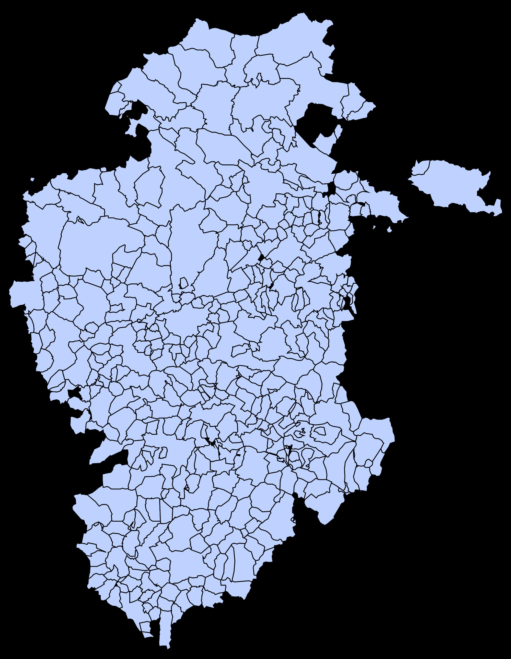 Municipios de la Provincia de Burgos 2003