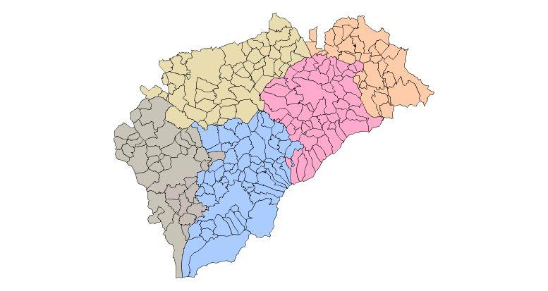 Partidos Judiciales de la provincia de Segovia 2009