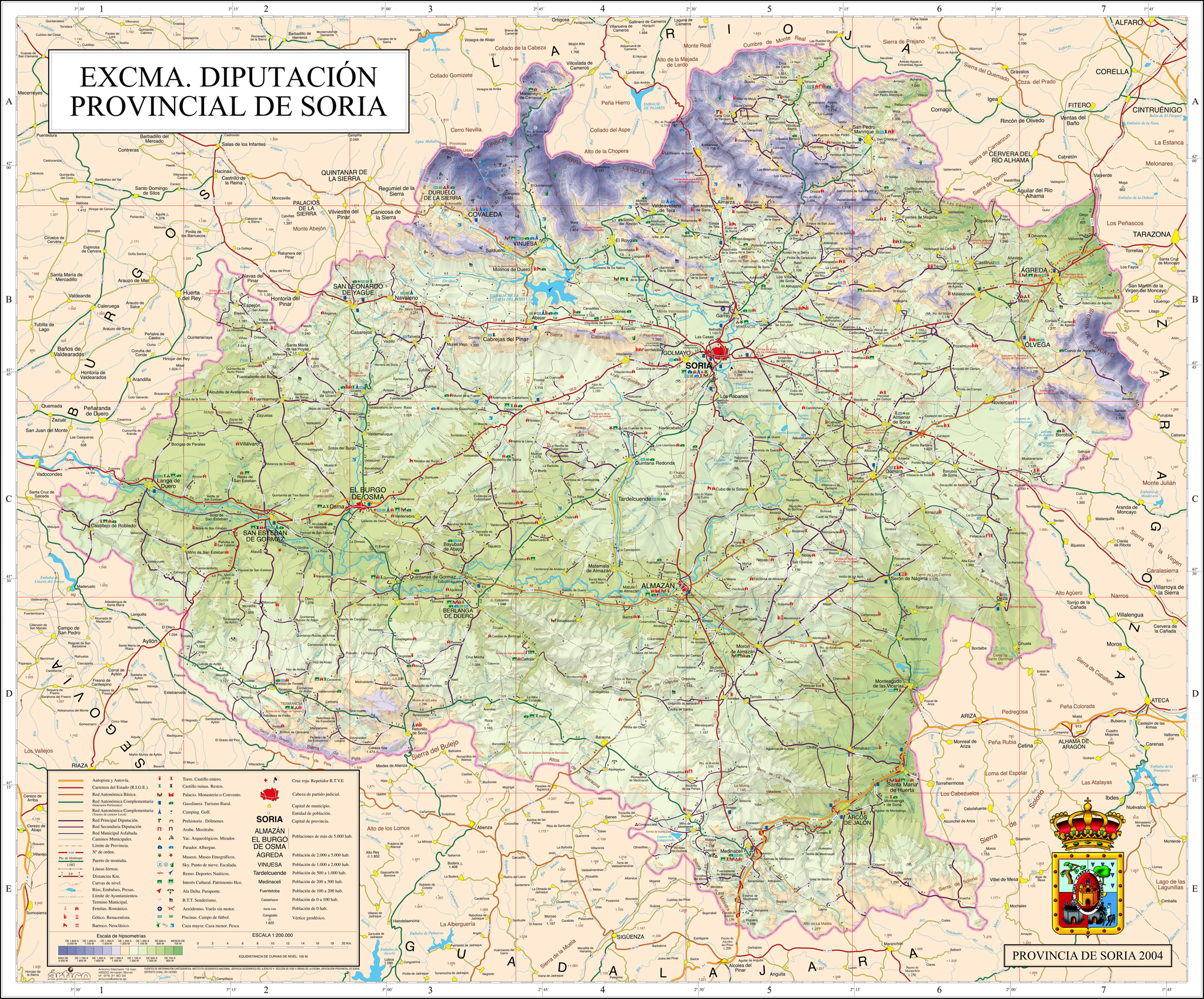 Mapa de la Provincia de Soria 2004