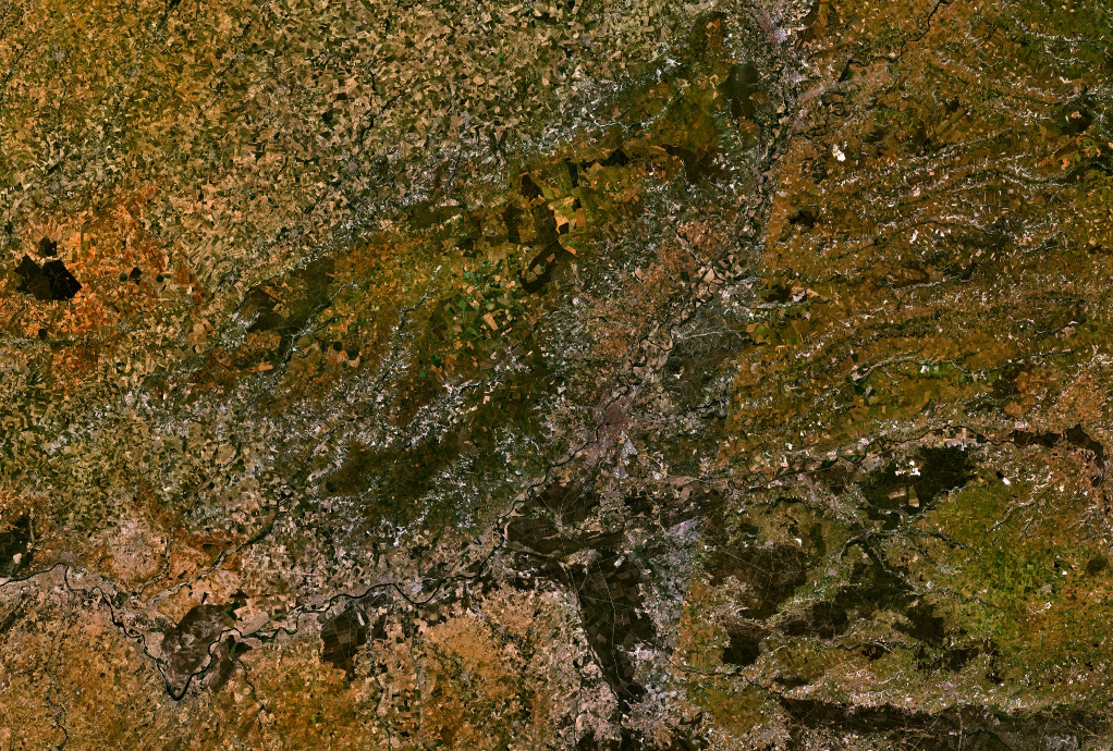 Satellite view of the Province of Valladolid
