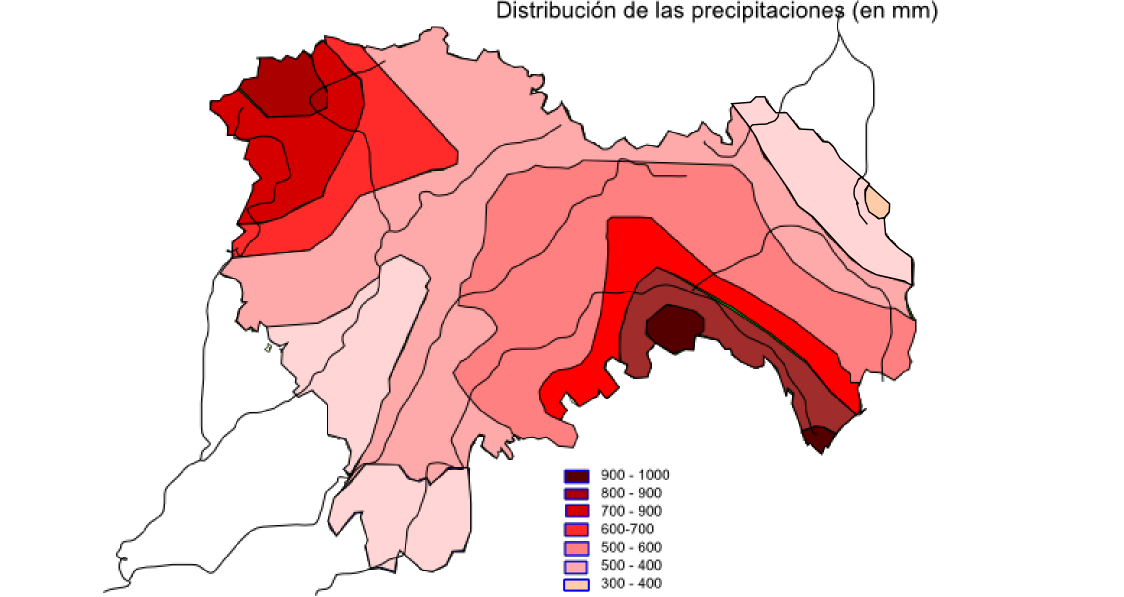 Precipitaciones en la Provincia de Guadalajara 2008