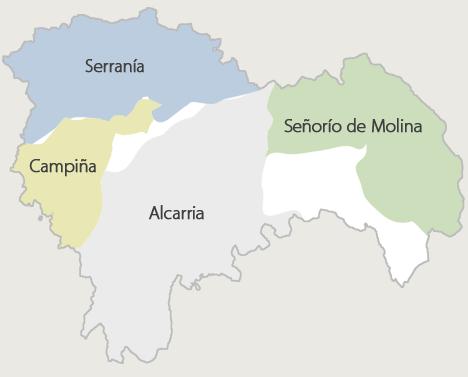 Comarcas de la Provincia de Guadalajara