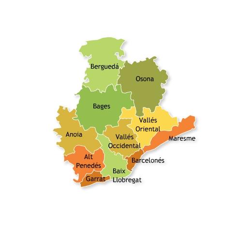Mapa De Comarcas De La Provincia De Barcelona Mapa Owje Com
