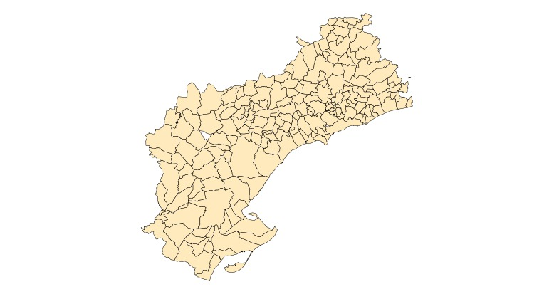 Municipalities of the Province of Tarragona 2003