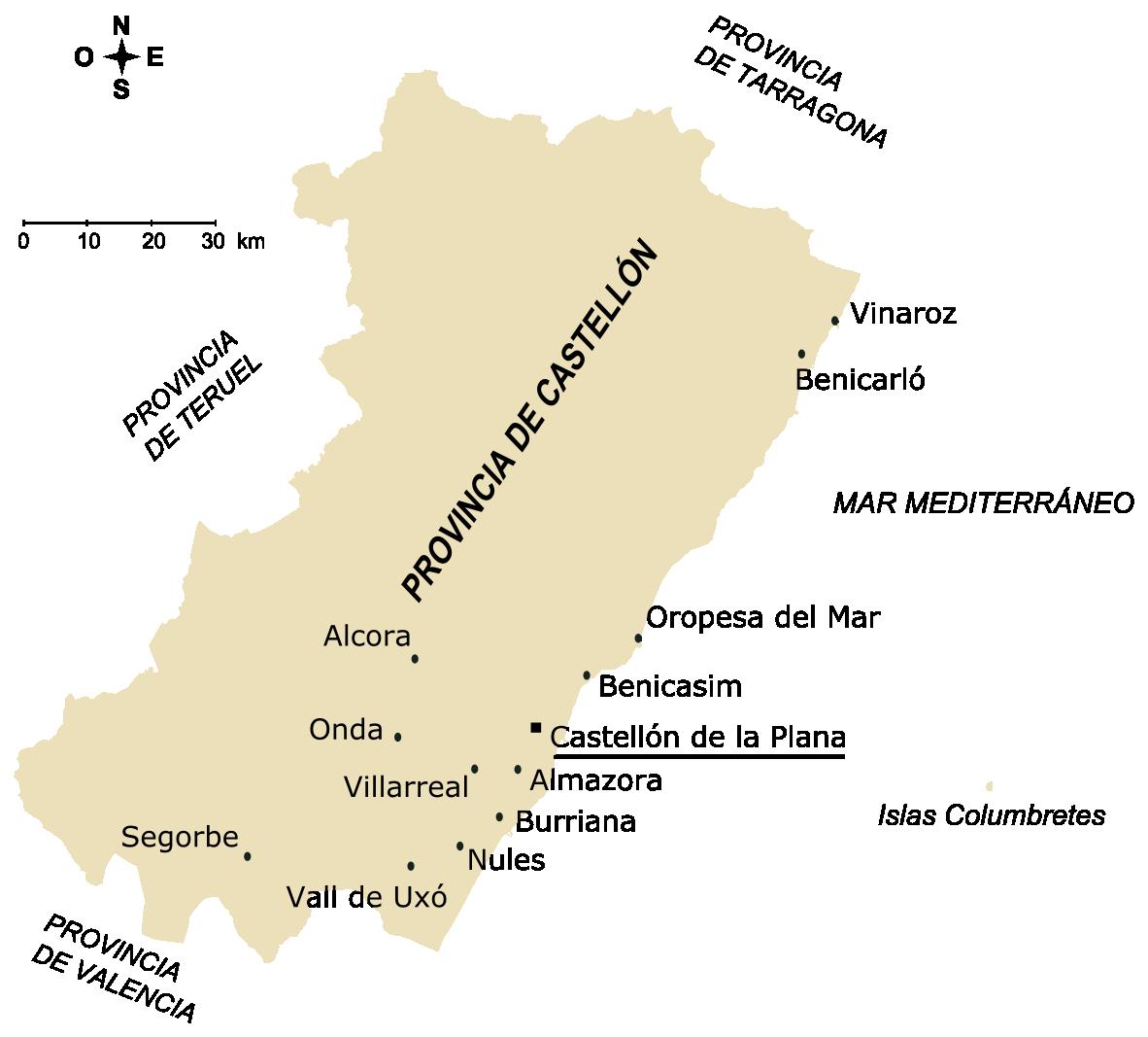 Ciudades de la provincia de Castellón 2005