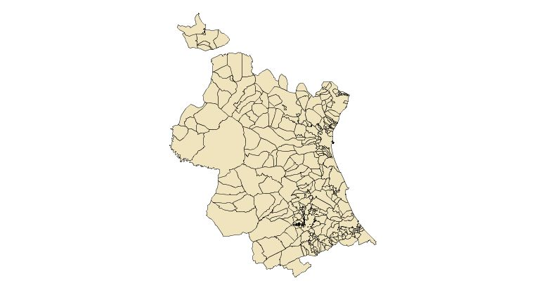 Municipalities of the Province of Valencia 2003