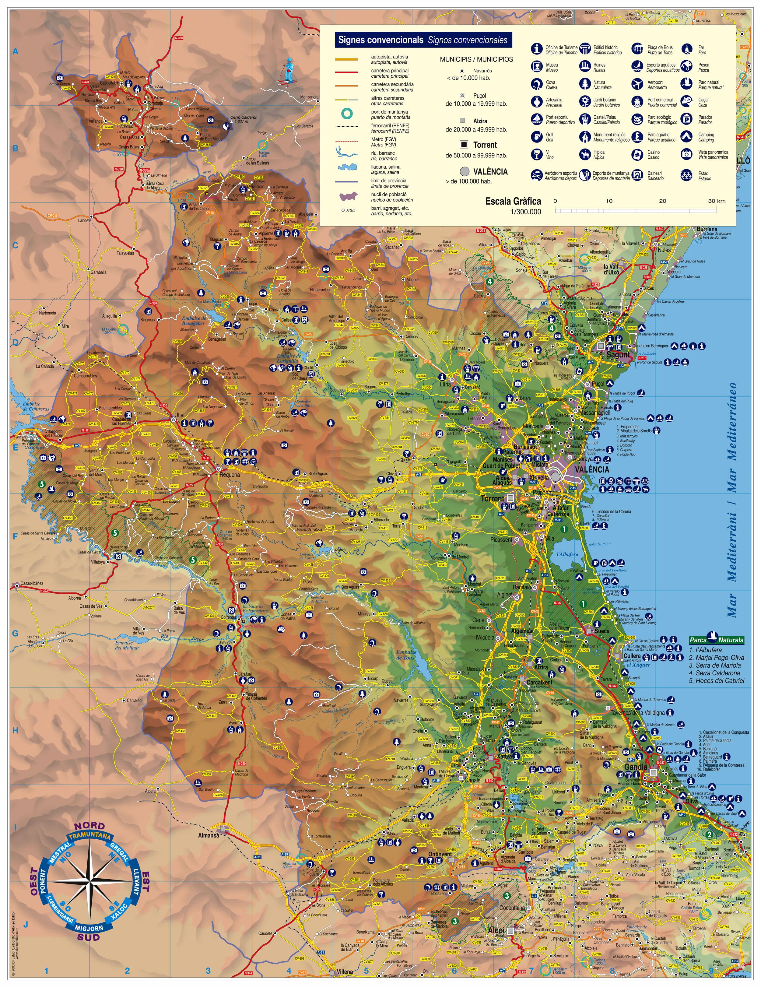 Mapa de la Provincia de Valencia 2006