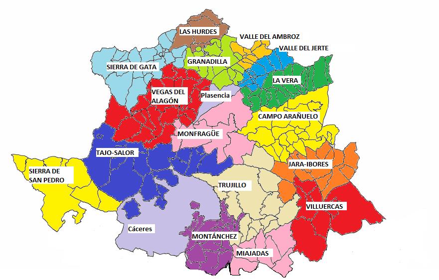 Comarcas de la Provincia de Cáceres 2010