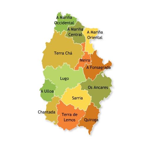 Mapa De Comarcas De La Provincia De Lugo Mapa Owje Com