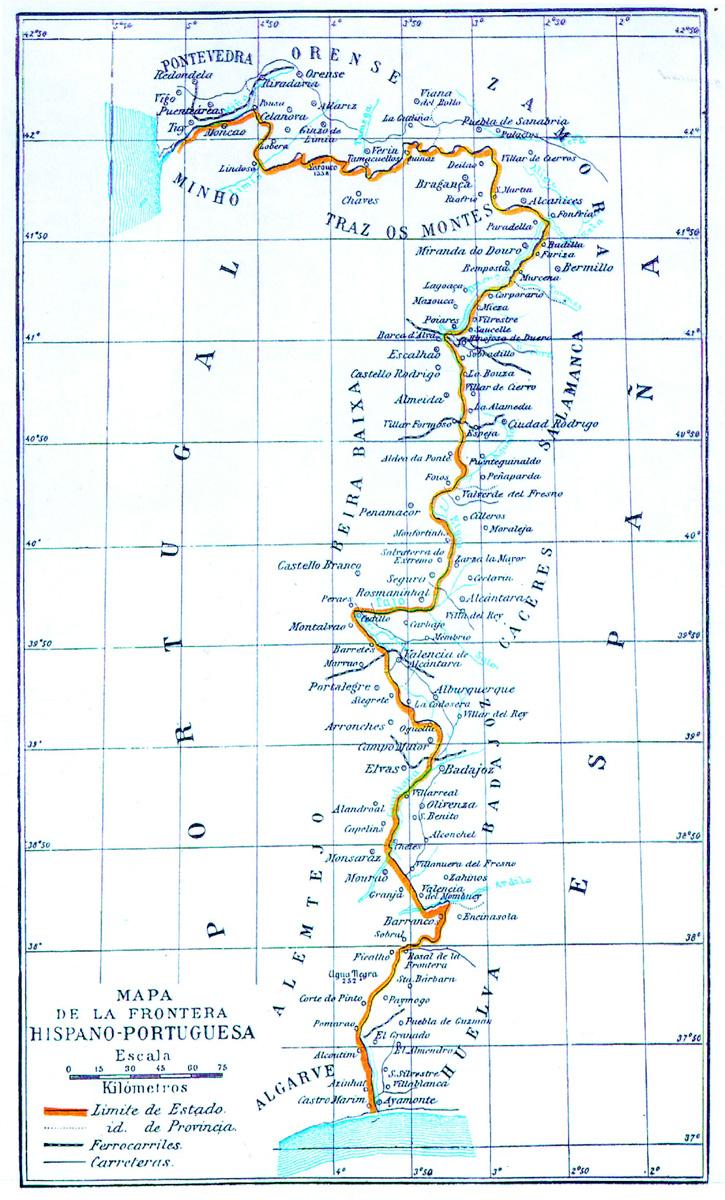 Frontera entre España y Portugal