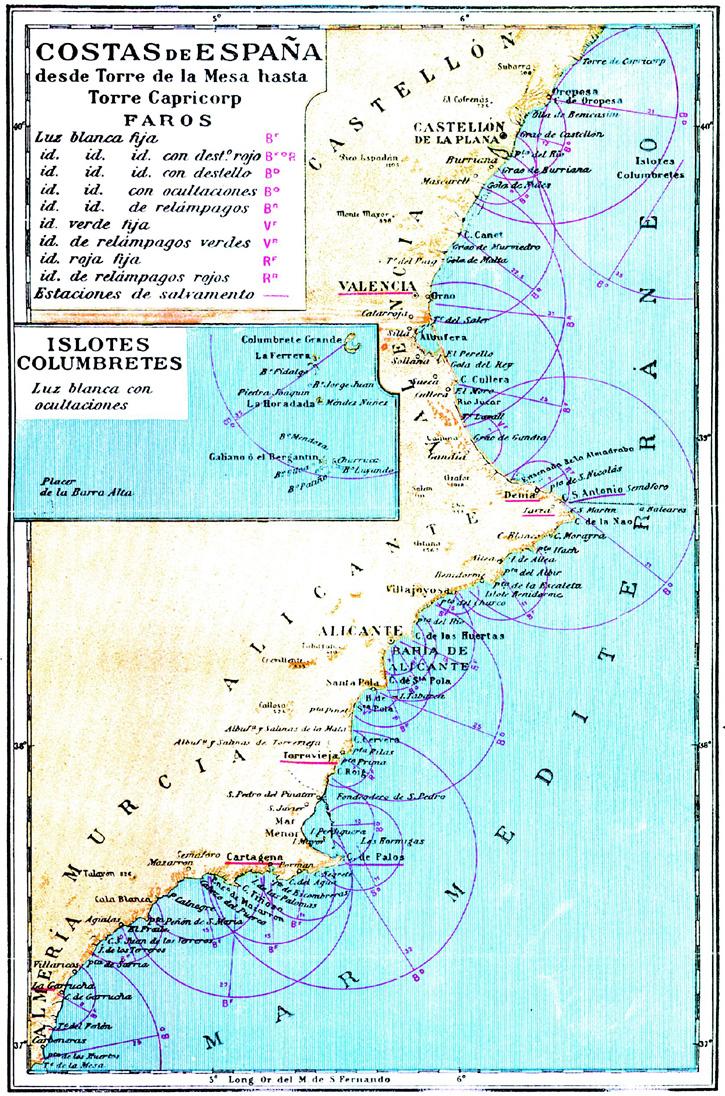 Costa de España desde Torre de la Mesa hasta Torre Capricorp