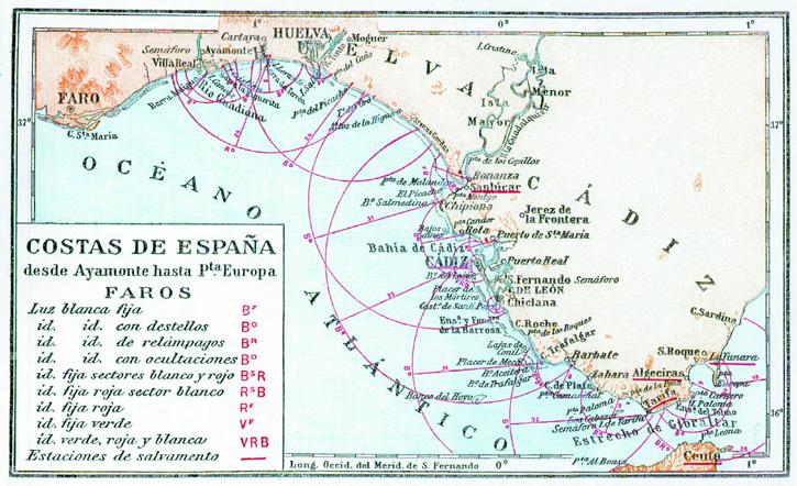 Costa de España desde Ayamonte hasta Puerta Europa