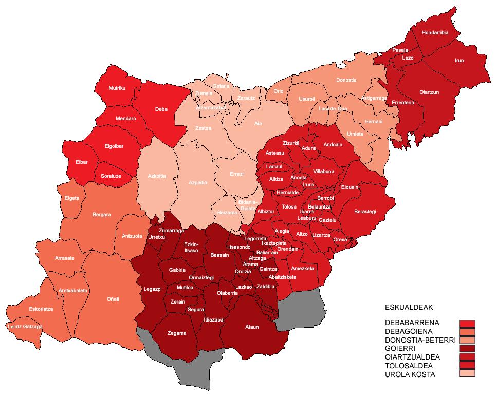 Municipios y comarcas de Guipúzcoa 2007