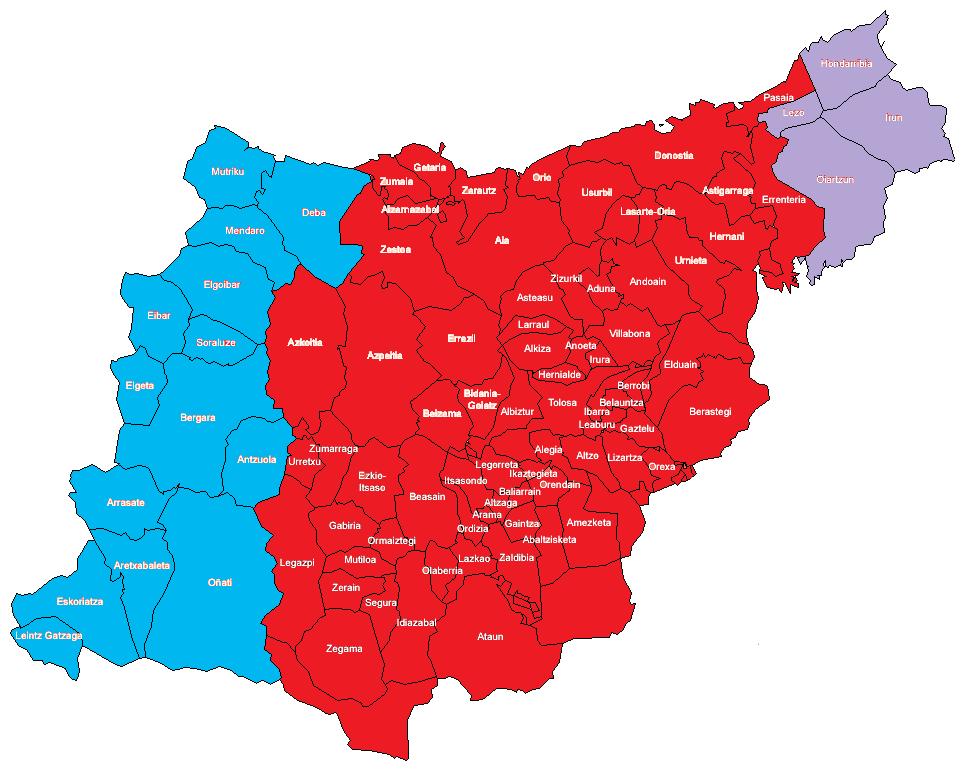 Los dialectos del idioma vasco en Guipúzcoa 2010