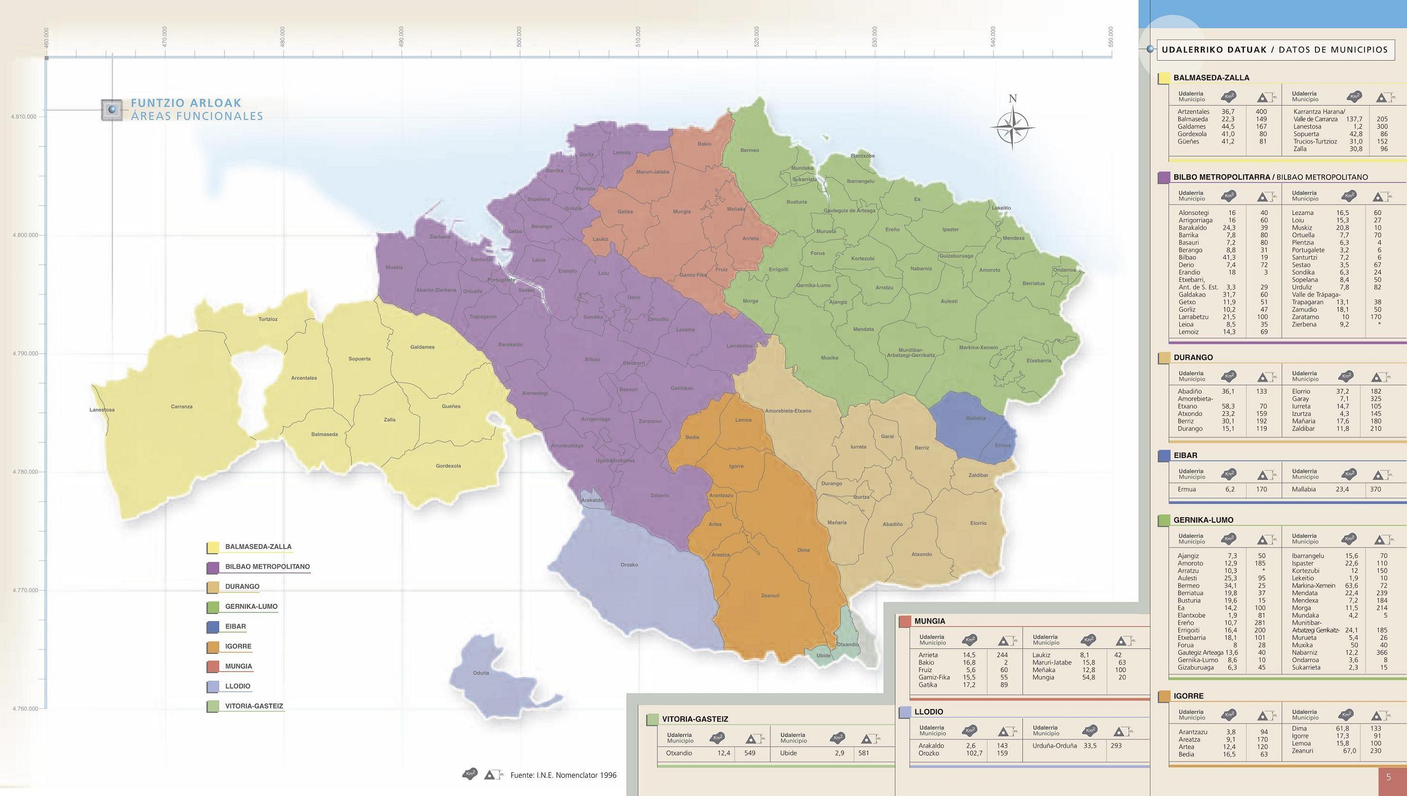 Areas Funcionales de Vizcaya 2004