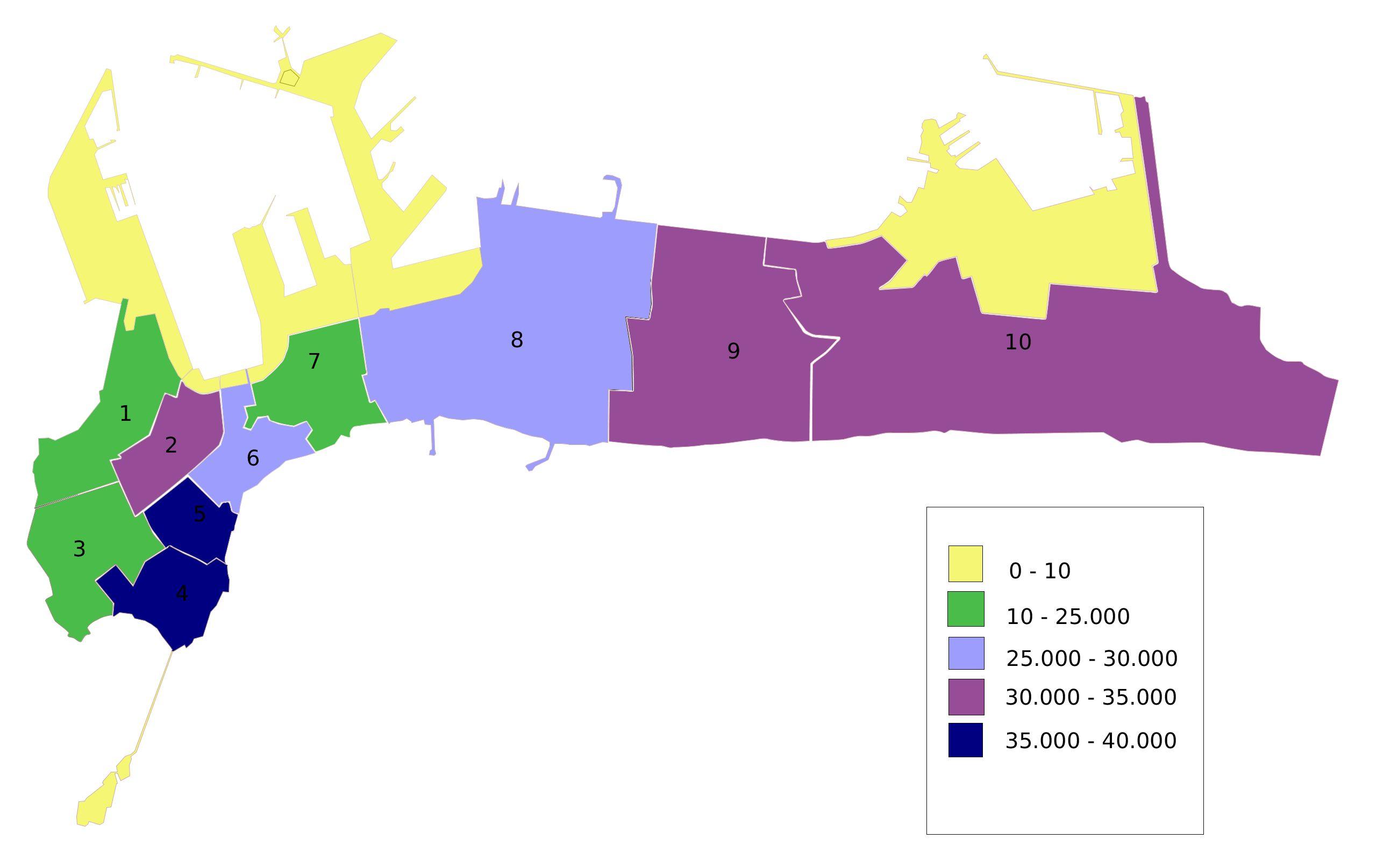 Divisiones de la ciudad de Cádiz 2007