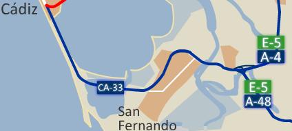 Autovía CA-33 de San Fernando a la ciudad de Cádiz 2008