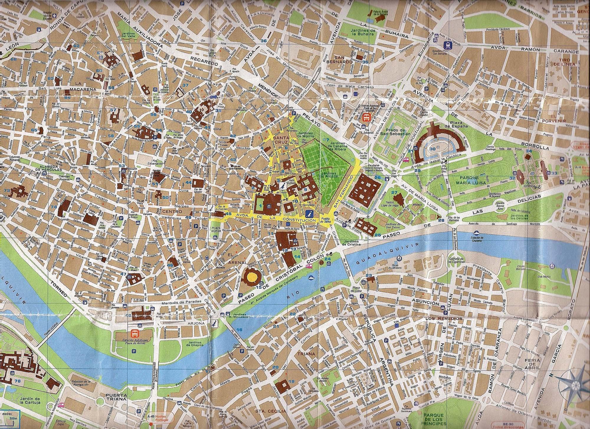Mapa De La Ciudad De Sevilla Mapa Owje Com