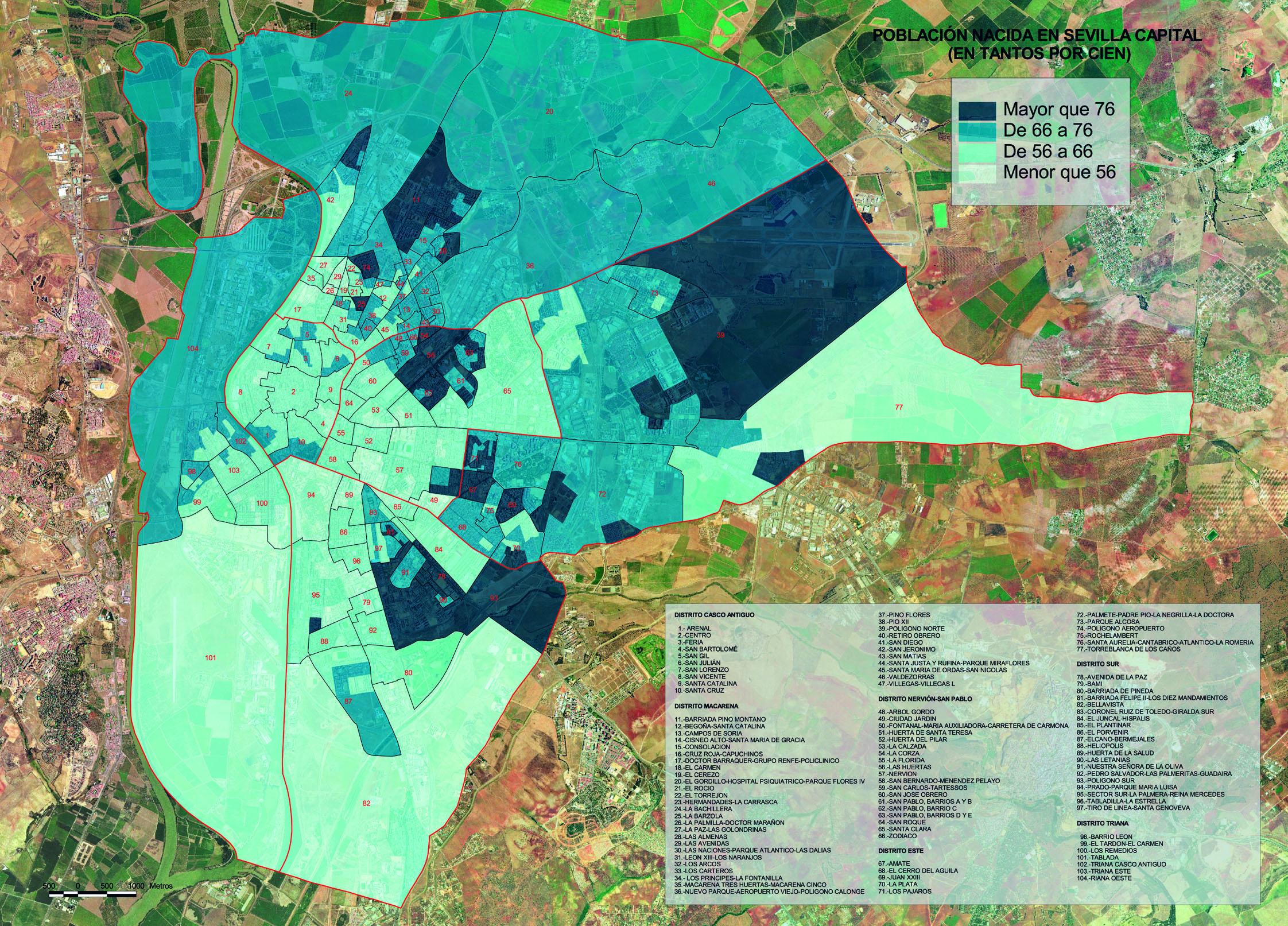 Población nacida en Sevilla 2002