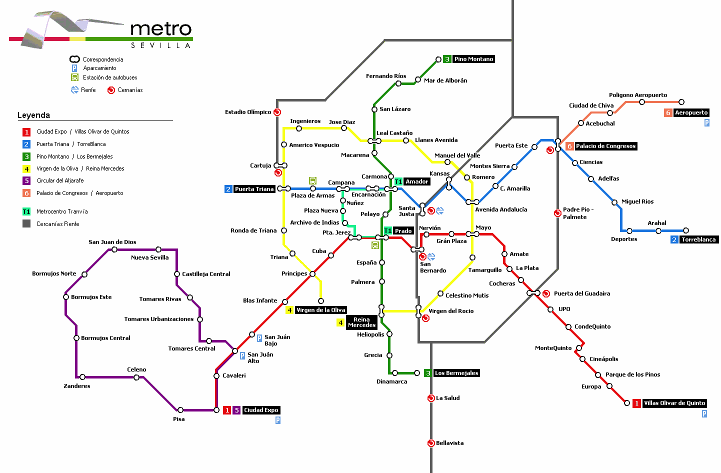 Seville future metro map