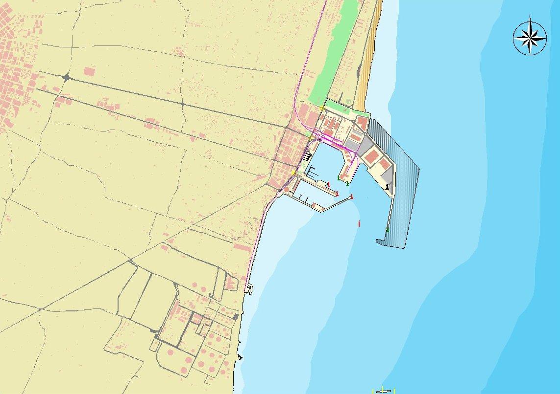 Castellón de la Plana port map