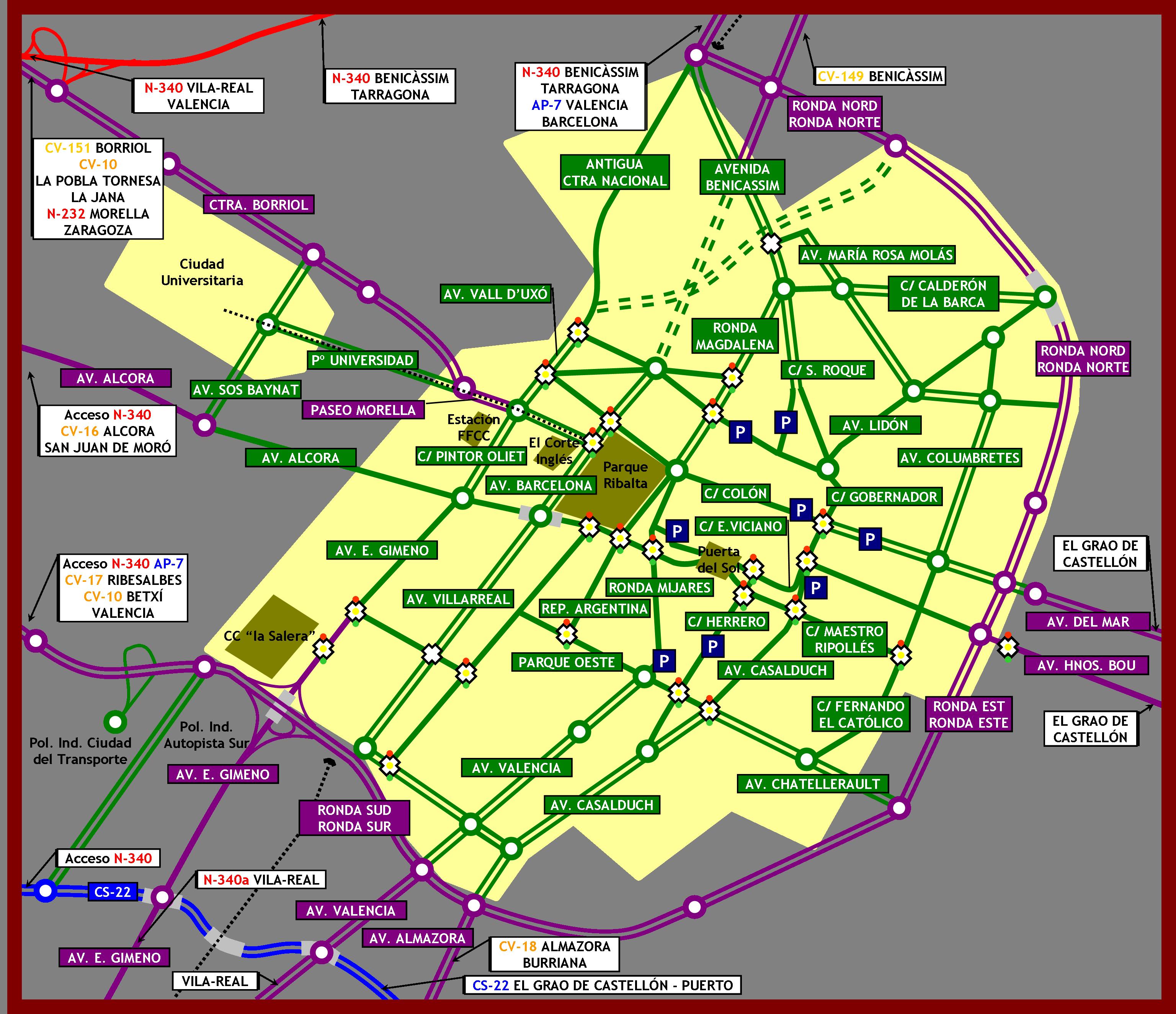 Calles y carreteras de Castellón 2007