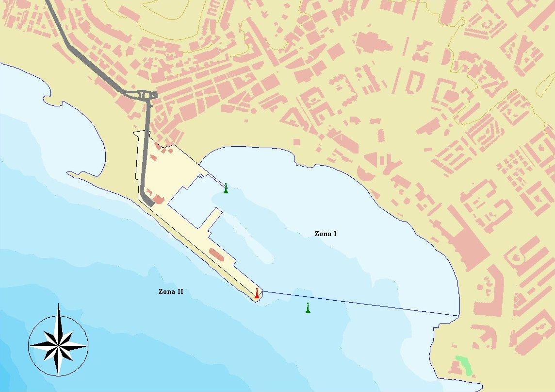 Mapa del puerto de Los Cristianos