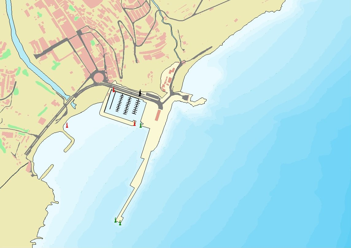 Mapa del puerto de San Sebastián de la Gomera