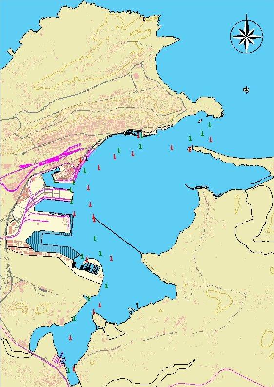 Mapa del puerto de Santander