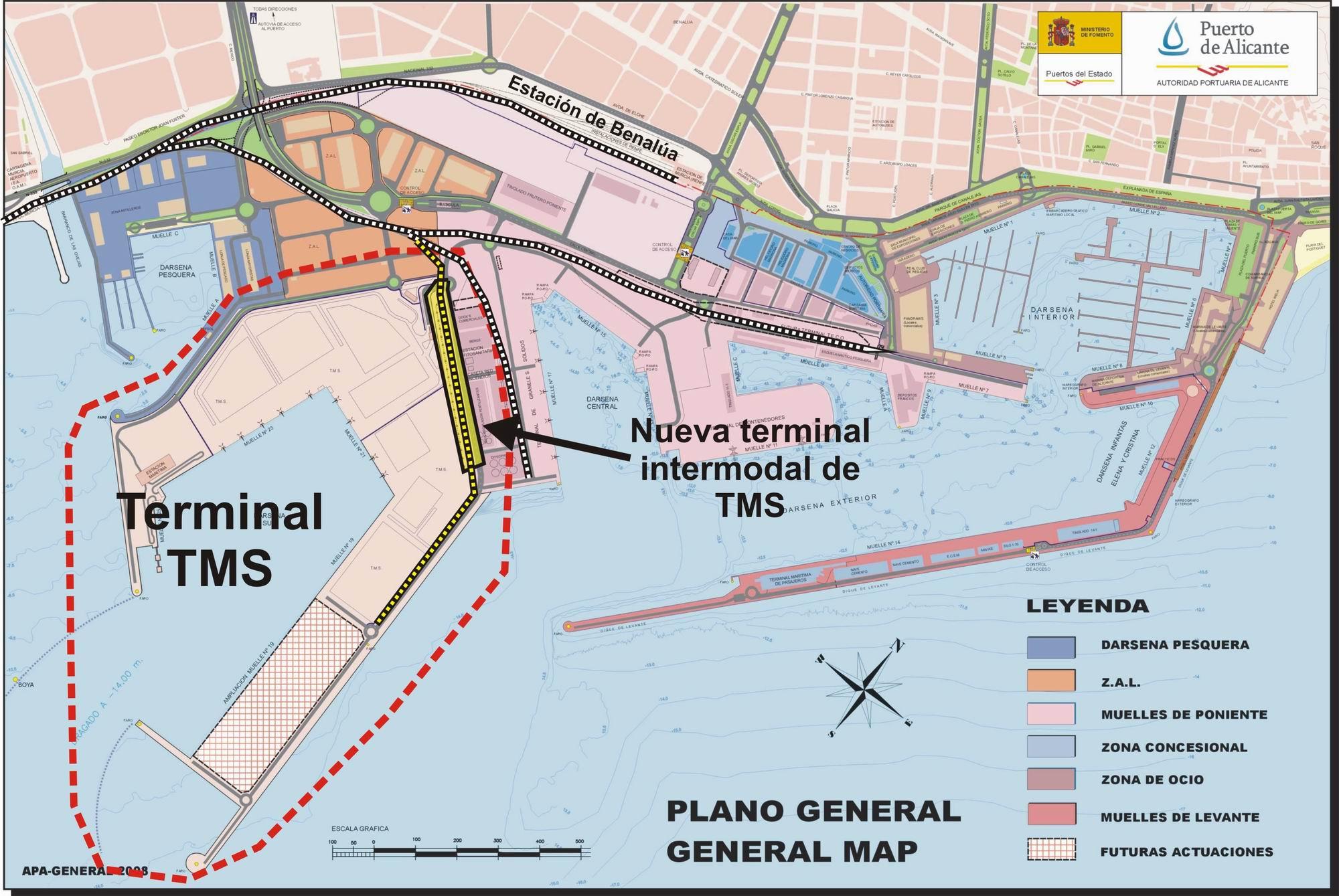 Terminal intermodal TMS del puerto de Alicante 2008
