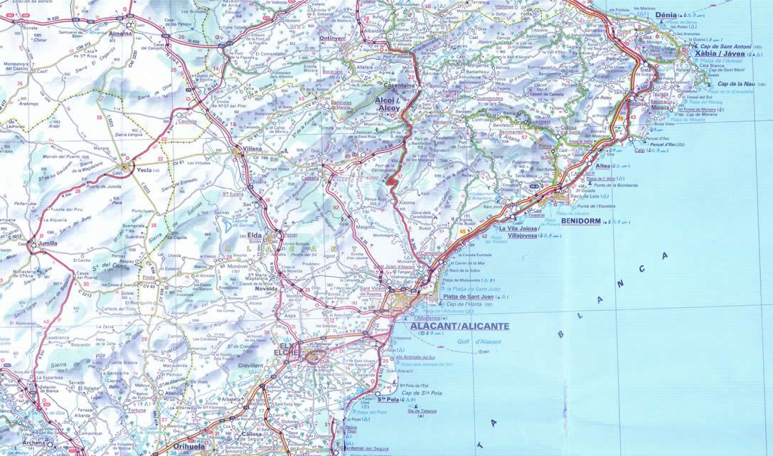 Mapa de acceso a Alicante