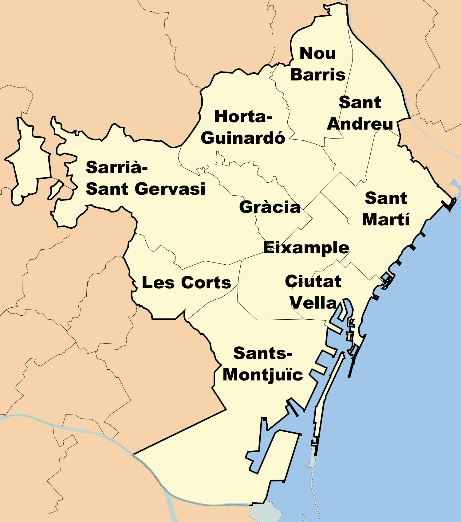 Districts of Barcelona 2008