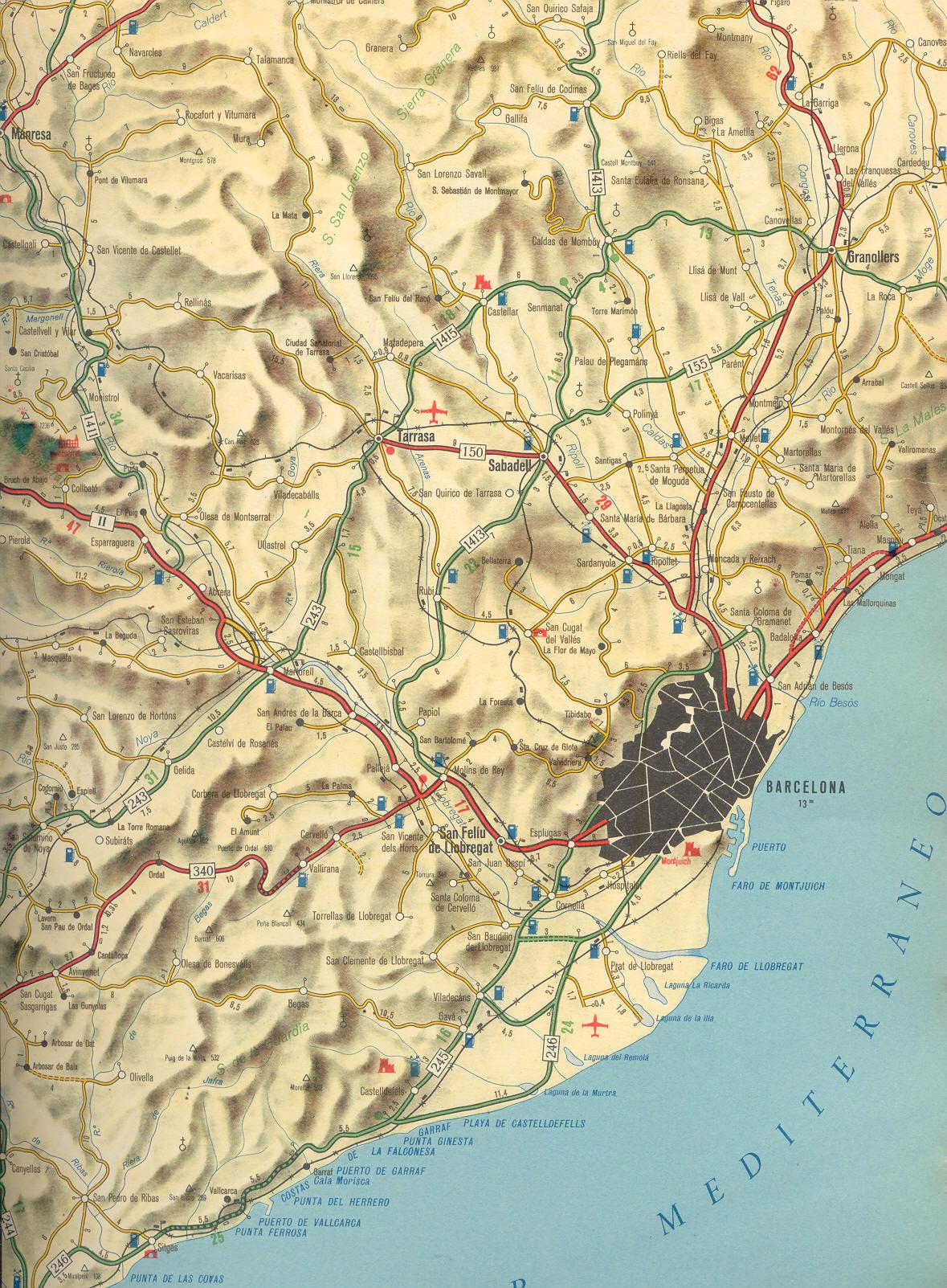 Zona de Barcelona en 1959